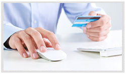 e-Commerce: picture of a couple holding credit cards