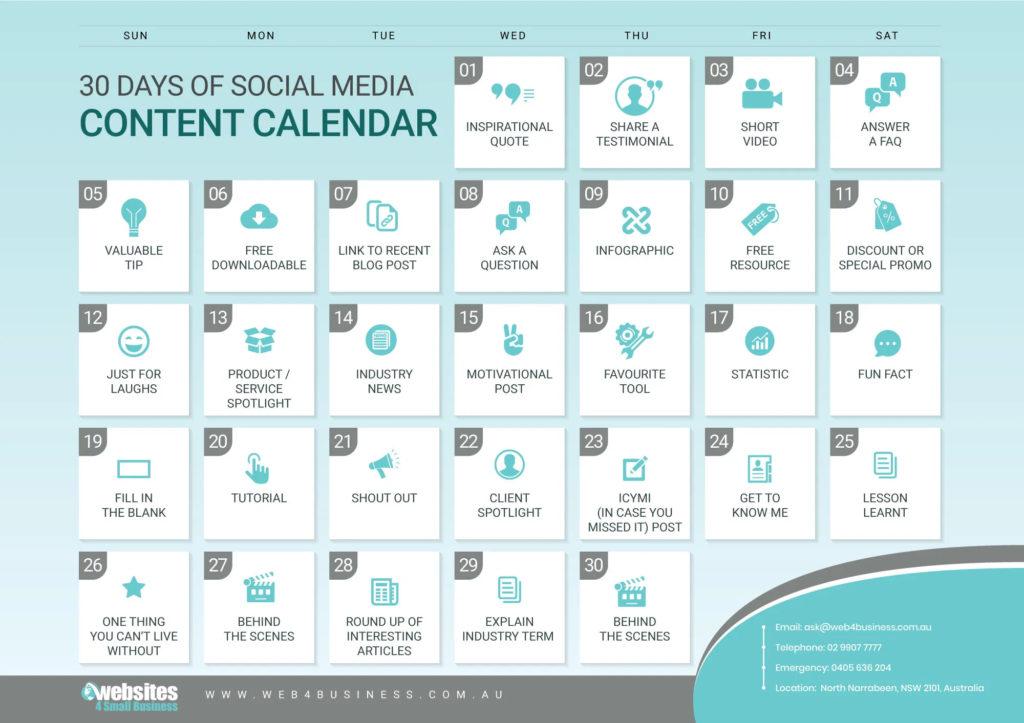 30-Day Social Media Calendar